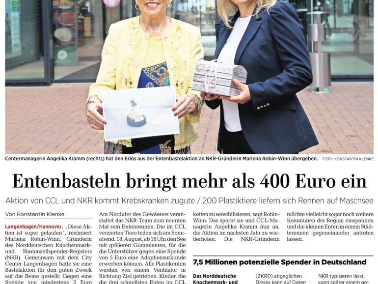 Basteln bringt 400 Euro gegen Blutkrebs