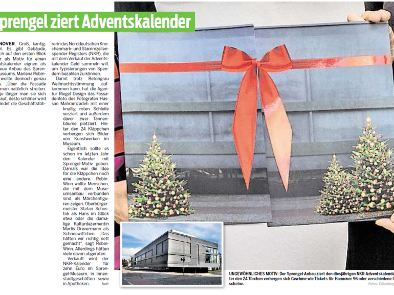 Sprengel ziert Adventskalender
